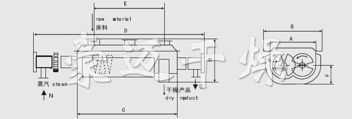 颜料桨叶干燥机结构示意图